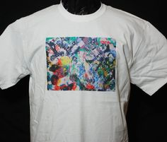 Tshirt Unisex  SPLATTER White Graphic Design Custom M by Zedezign, $22.00