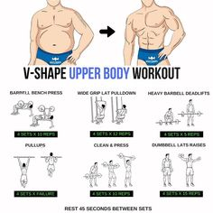 V-Shape Upper Body Workout step by step tutorial