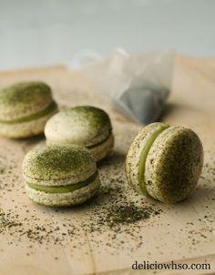 DELICI-OWH-SO: Green Tea Macarons recipe