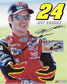 awesome AUTOGRAPHED 2003 Jeff Gordon #24 DuPont Racing Team (Hendrick Motorsports) Vintage Signed 8X10 Picture NASCAR Hero Card with COA