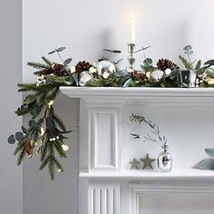 Fir & Snowberry Garland - 6ft | The White Company