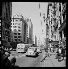 Street Scenes of Los Angeles in 1942