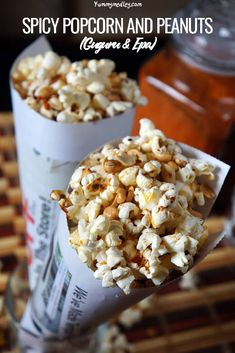 Locally called Guguru and Epa, this absolutely addictive Nigerian spicy popcorn and peanut snack is one of the simplest African recipes out there. Vegan Snacks, Easy Snacks, Snack Recipes, Healthy Snacks, Vegetarian Recipes, Spicy Popcorn, West African Food, Nigerian Food, International Recipes