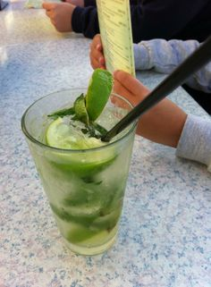 SUNDANCER'S BACARDI MOJITO:  Bacardi Rum muddled with fresh lime, mint and sugar, shaken with a splash of soda water, a cool summer treat! http://sundancerscapecod.com/menus/drink-menu/