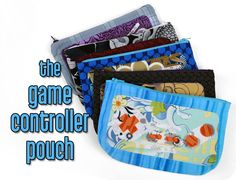 Free tutorial: Make a handy zippered pouch done up like an old-school game controller! #diy #sewing