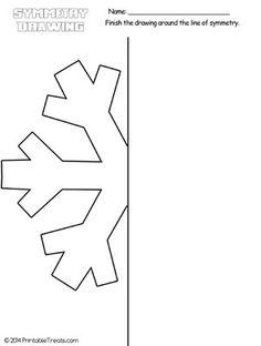 Snowflake Symmetry Drawing Worksheet