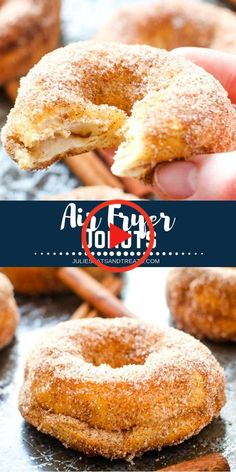 Air Fryer Donuts are the perfect easy breakfast treat! This great air fryer reci… Air Fryer Donuts are the perfect easy breakfast treat! This great air fryer reci…,Breakfast & Brunch Recipes Air Fryer Donuts. Air Fryer Oven Recipes, Air Frier Recipes, Air Fryer Dinner Recipes, Air Fryer Recipes Donuts, Air Fryer Recipes Potatoes, Convection Oven Recipes, Air Fryer Recipes Vegetables, Air Fryer Recipes Vegetarian, Microwave Recipes