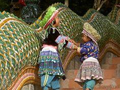 Miao girls in Chang Mai/ Thailand