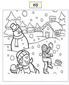 Free Coloring Pages Winter Scenes from Have fun with Winter Coloring Pages. Below you can find the winter coloring pictures to color. Browse the page and choose the images you like then just print them and color them! Kids Printable Coloring Pages, Snowman Coloring Pages, Coloring Pages Winter, Sports Coloring Pages, Online Coloring Pages, Coloring Pages For Boys, Animal Coloring Pages, Free Coloring Pages, Coloring Sheets