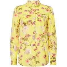 Lauren Ralph Lauren Courtenay Floral Print Shirt ($160) ❤ liked on Polyvore featuring tops, women tops, lauren ralph lauren shirts, cotton shirts, floral print tops, beige shirt and floral print shirt