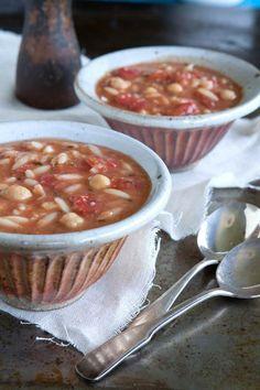 Garbanzo Bean and Tomato Soup