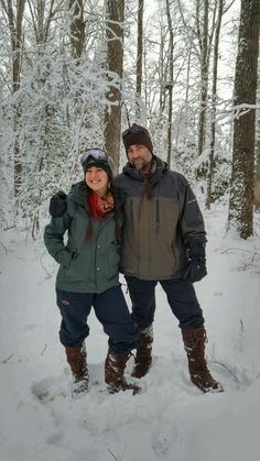 "Lee Anne Griffin - ""Picture taken in Greenville SC in our woods. January 8, 2017 We keep our families feet warm with Stegger Mukluks!"" - father &daughter Daniel and Gavi Griffin #mukluk #stegermukluks"