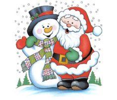Boneco de neve e o papai noel !!!