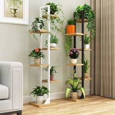 4/6 Tiers Wooden Flower Ladder Rack, Planter Holder, Shoes Books Bonsai Plant Stand Shelf Pot Bookcase Display Multi-Tier Plant Stand Rack Storage Holder for Outdoor & Indoor