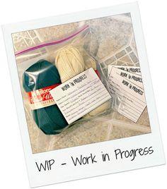 Printable Work in Progress Cards