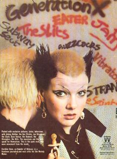 "Soo Catwoman, early UK punk icon, on the back cover of Caroline Coon's book New Wave Punk Rock Explosion"", published in Photo Rock, Punk Mode, Punk Rock Girls, British Punk, 70s Punk, Punk Looks, Riot Grrrl, New Romantics, The New Wave"