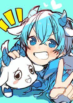 Cute Anime Pics, Cute Anime Boy, Anime Art Girl, Anime Chibi, Manga Anime, Anime Blue Hair, Anime Crafts, Dark Anime Guys, Anime Drawings Sketches