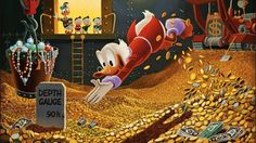 OK, accounting for inflation I have to make 52 billion dollars to do Scrooge McDuck's money swim. Finally, I have a financial goal.