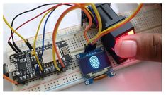 Fingerprint Attendance System, Php Website, Fingerprint Id, Iot Projects, Wifi Connect, Finger Print Scanner, Display Screen, Arduino, Electronics