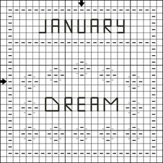 Free Counted Cross Stitch Pattern - January Dream Mini Sampler - Right click and save the patterns from here on pinterest and then follow the link for the pattern key and instructions.