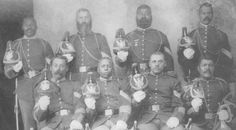 BUFFALO SOLDIERS/The eight sergeants who served as honor guard when the body of Colonel Edward Hatch was transported from Fort Robinson, Nebraska, to Fort Lea