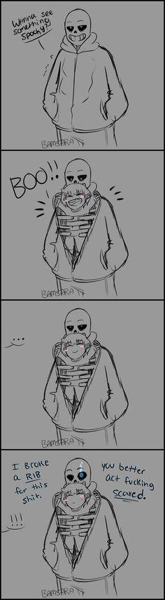 Boo  ||| Sans and Frisk ||| Undertale Fan Art by BamSaraKilledYou on DeviantArt
