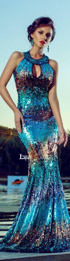 KEYHOLE METALLIC GOWN DRESS SEQUIN #UNIQUE_WOMENS_FASHION