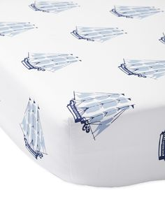 This bedtime story was inspired by the sea (and our love of classic, seafaring style). We printed the ships in painterly fashion for a whimsical look. Soft cotton makes it extra suitable for the nursery.
