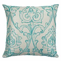 """St Lucia Pillow 24"""" - Venetian Blue   Pillows   Bedding-and-pillows   Z Gallerie"""