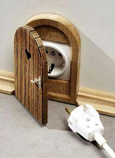 mouse house plug.....seriously meets my definition of AWESOME!!