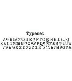 Sizzix Sizzlits Decorative Strip Die Typeset Alphabet
