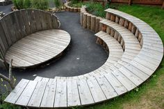 Garden theatre with seating and performance areas - how cool! Could double up as an entertaining space for adults.
