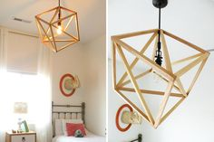 Build this geo light pendant with this simple tutorial.