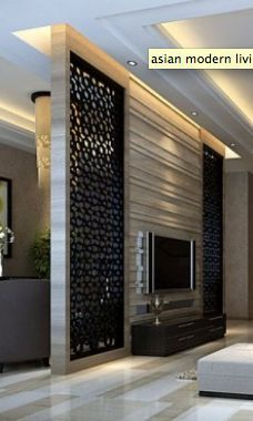the best room divider ideas and partition wall designs for modern home interior designs Tv Wall Design, Tv Unit Design, Ceiling Design, House Design, Modern Tv Wall, Decorative Screens, Living Room Tv, Living Area, Wall Mounted Tv