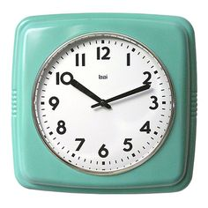 Harper Wall Clock in Turquoise