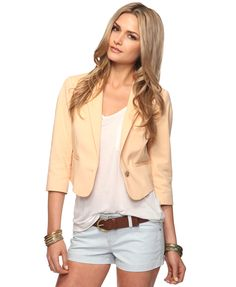 I want a blazer/jacket in ever color! So cute! <3