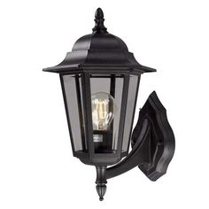 Features: Class: 1 Intended for fixed installation Lighting Type: Outdoor Wall Lantern Country of Origin: China Fixture Finish: Black Voltage: 230 Fi Led Outdoor Wall Lights, Outdoor Wall Lantern, Outdoor Walls, Outdoor Lighting, Outdoor Flush Mounts, Outdoor Wall Sconce, Led Röhren, Dar Lighting, Wall Sconces
