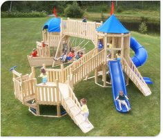 The 920 stately abode kids wooden play set what prince for Build your own wooden playset
