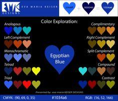 """Eva Maria Keiser Designs: Explore Color:  """"Egyptian Blue"""" (#1034a6)"""
