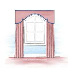Cornises and coronas arched window covering ideas - Bing Images The ultimate shower accessories Show Arched Window Coverings, Window Cornices, Curtains For Arched Windows, Arch Windows, Window Drapes, Window Treatments Living Room, Living Room Windows, Window Dressings, Curtain Designs