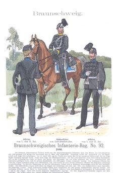Band XIV #51.- Braunschweigisches Inf. R. 92. 1880.