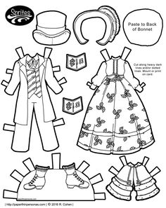 So, today we have some Dickens caroling costumes for the Sprites printable paper dolls to celebrate the winter holidays. Free to print and play with. paperthinpersonas.com/