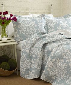 Take a look at the Blue Rowland Quilt Set on #zulily today!