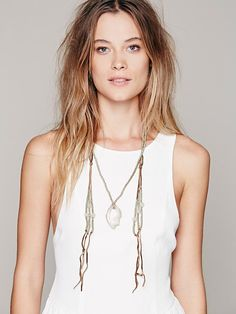 Free People Agate & Leather Loop Necklace, $268.00. women's fashion and style. jewelry. long necklace. boho