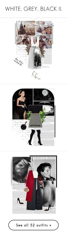 """""""WHITE, GREY, BLACK II."""" by eve-angermayer ❤ liked on Polyvore featuring WALL, Gianvito Rossi, MANGO, Anouki, Rosetta Getty, Gucci, Tara Zadeh, GET LOST, Halston Heritage and Forte Forte"""