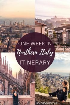One week in Northern Italy Travel Itinerary you should follow: 7 day trip highlights include Turin, Pavia, Milan and Bergamo! (Most beautiful monastery in Europe, alpine towns and local cuisine!)