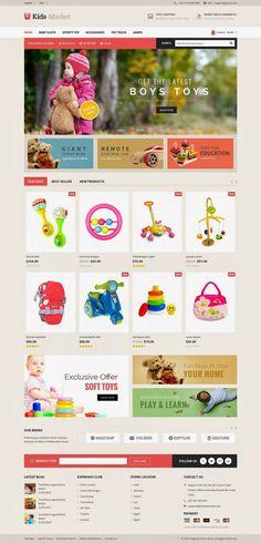 Kids Market Multipurpose Magento Responsive Theme #toys #children #shop