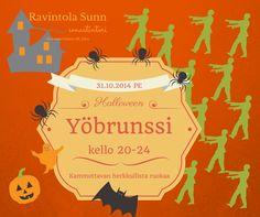 Halloween yöbrunssi!! Restaurant, Halloween, Movies, Movie Posters, Art, Art Background, Film Poster, Films, Popcorn Posters
