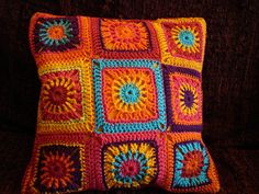 Ravelry: Mexican sunset cushion pattern by sarah star