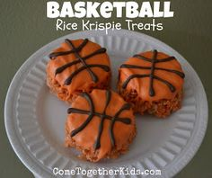 Come Together Kids: Basketball Krispie Treats
